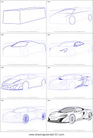 mclaren logo drawing how to draw mclaren 675lt printable step by step drawing sheet
