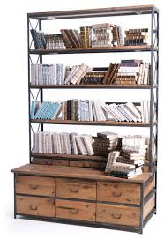 Bookcase Bench Baxter Bench Bookcase Industrial Bookcases By Custom