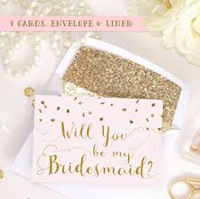 will you be my bridesmaid invite card set will you be my bridesmaid of honor bridal
