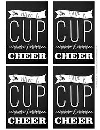 ruffled sunshine a cup of cheer printable winter crap