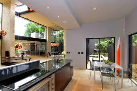 contemporary home dining room decor ideas gray puffy sofas dark