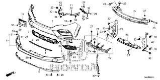 honda pilot bumper honda store 2016 pilot front bumper parts