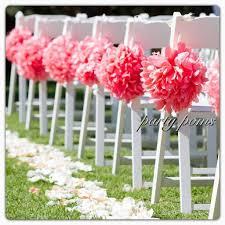 wedding ceremony decoration aisle decor 9 inch tissue
