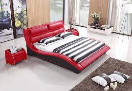 amazon com napoli modern platform bed red black king kitchen