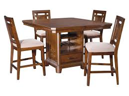 counter height table with storage broyhill furniture estes park 5 piece storage counter height table