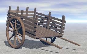 wooden push pull cart 3d model sharecg