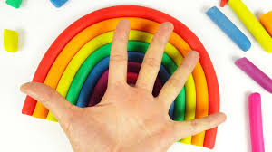 diy how to make play doh rainbow colors art and craft for kids