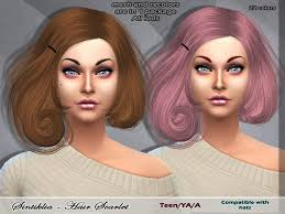 custom hair for sims 4 the sims 4 hair custom content lipstick alley