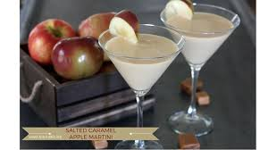 salted caramel apple martini the rustic life