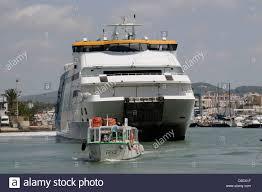 Spanish Mediterranean Eivissa Port Ibiza A Spanish Mediterranean Island Small Passenger