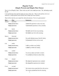 all worksheets simple past tense worksheets for grade 1