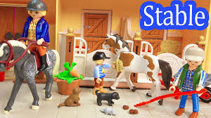 Toy Barns Playmobil Country Take Along Family Horse Stable Barn Farm With