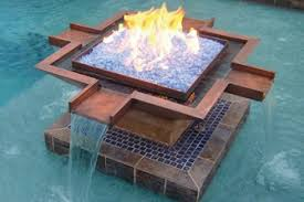 Fire Pit With Glass by Landscape Glass Applications Directcolors Com