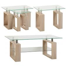 sonoma oak glass lamp table one stop furniture shop