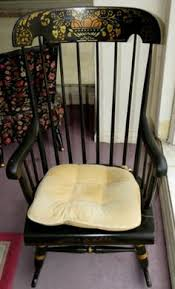 Rocking Chair Antique Styles Antique Nichols And Stone Stenciled Black Rocker Rocking Chair