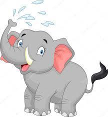 cartoon elephant spraying water u2014 stock vector tigatelu 63457217