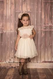 country wedding flower dresses ivory beige chiffon flower dress rustic wedding country