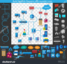 concept building network diagram build your stock vector 277956620
