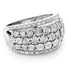 hand rings images Round diamond women 39 s right hand ring 14k white gold 35ct jpg