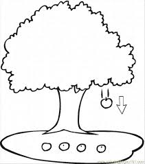 apple tree coloring page apple tree 3 coloring page free trees coloring pages