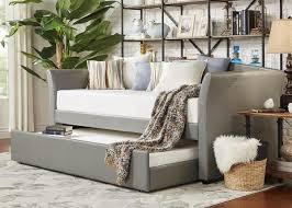donovan gray 3 pc daybed with trundle daybeds bedroom