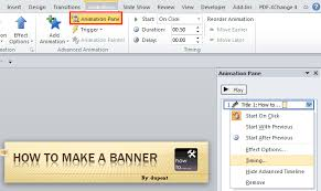 how to create a banner in powerpoint 2010 powerpoint e learning