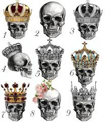 gorgeous skull crown salad plate 7 5 meito ritz