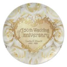 50th anniversary plates for 50th anniversary plates zazzle co uk