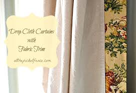 How To Make Curtains Out Of Drop Cloths How To Make Drop Cloth Curtains With A No Sew Fabric Edge Hometalk