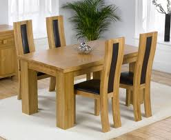 madrid solid oak furniture dining table and chairs set