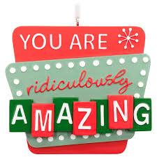 you are amazing hallmark ornament gift ornaments hallmark