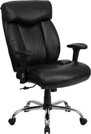 HERCULES Series 350 lb Capacity Big  Tall Black Leather Office Chair