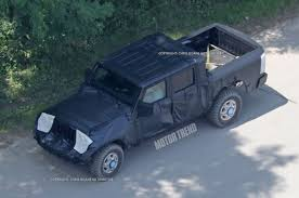 jeep wrangler pickup black jeep wrangler pickup spotted for the first time motor reviews