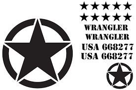 jeep decal military star decal kit for jeep wrangler the pixel hut