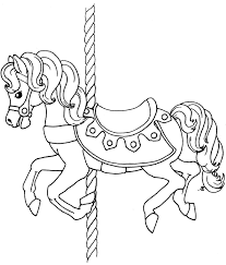 carousel coloring page free coloring pages on art coloring pages