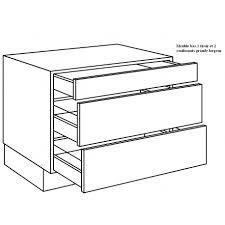 tiroirs de cuisine casserolier de cuisine 1 tiroir 2 coulissants largeur 120cm