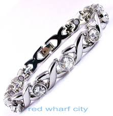 ladies magnetic bracelet images Ladies expanding stainless steel magnetic therapy bracelet jpg