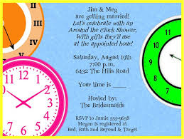 around the clock bridal shower clocks around the clock bridal shower invitations