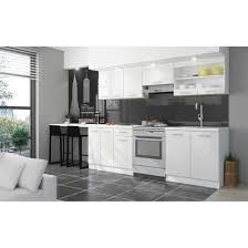 cuisine avec plan de travail ultra cuisine complète avec plan de travail l 2m40 blanc laqué