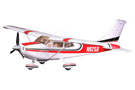 fms 1400mm sky trainer 182 5ch with flap at red pnp fmsmodel