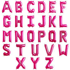 balloon letters 16 pink alphabet letter birthday party a z message foil balloons