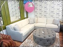Grey Tufted Ottoman Down Feathered Sofa Set With Round Hand Tufted Grey Ottoman Yelp