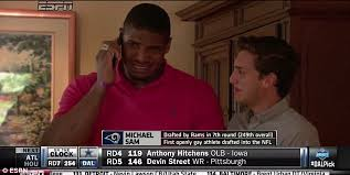 Michael Sam Memes - michael sam reacts after he s passed over until final moments of nfl