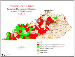 Map Of Kentucky And Tennessee by Farming On The Edge American Farmland Trust