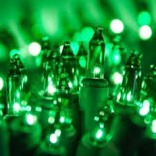 green 100 light string commercial quality lights st s day