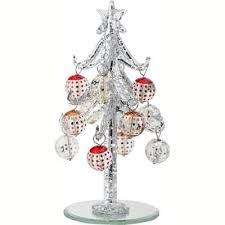 glass tree with ornaments miniature rainforest islands