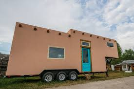 adobe style home adobe style tiny house on wheels