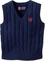 chaps cable knit sweater vest boys xl 18 20 baby