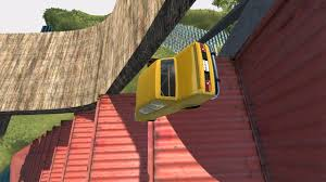 Death Stairs by Down Stairs Container 2 Death Fall Beamng Drive Car Accident