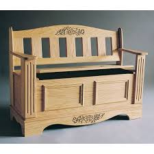 buy woodworking project paper plan to build blanket chest bench